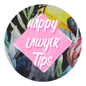 This is an image of the happy lawyer happy life toucan branding.